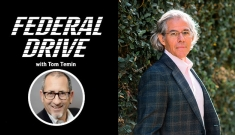 Federal Drive podcast cover art with portrait of Jimmie Lenz